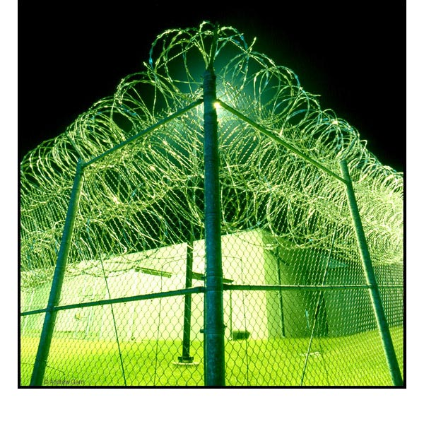CCA Prison Fence at Night, Nashville, Tenn